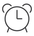 alarm line icon web and mobile clock sign vector image