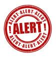 alert sign or stamp vector image