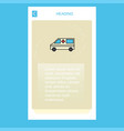 ambulance mobile vertical banner design design vector image vector image