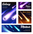 asteroids and meteorites galaxy space banners vector image vector image
