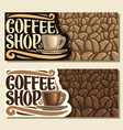 banners for coffee shop vector image