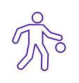 basketball dribbling outline sport figure symbol vector image