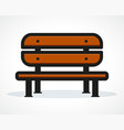 bench design vector image