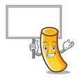 bring board tortiglioni pasta character cartoon vector image vector image