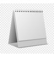 calendar mockup empty realistic organizer with vector image