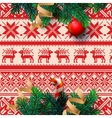 Christmas decoration with ornament background vector image vector image