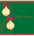 Christmas Framework style card vector image vector image
