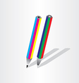 color pencil rgb cmyk vector image
