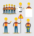 Construction Worker People Set vector image
