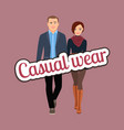 couple in spring casual wear clothes vector image vector image