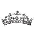 crown of lady margaret beaufort vintage engraving vector image vector image