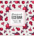 eco bar paper emblem with type design over vector image vector image