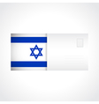 Envelope with flag of Israel card vector image vector image