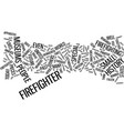 firefighter museums text background word cloud vector image vector image