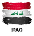flag of iraq from brush strokes vector image vector image