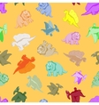 Funny colored dinosaurs vector image