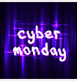 glitch cyber monday sale white text vector image vector image