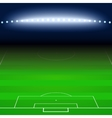 Green football soccer field white markings vector image vector image