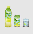 green iced tea package mockup set vector image