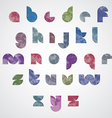 Halftone print dots textured stylish modern font vector image vector image