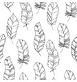 hand-drawn seamless pattern with sketch style bird vector image vector image