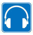 headphones icon on white vector image