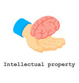intellectual property icon isometric style vector image vector image