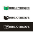 library logo for france hand-drawn icon an vector image vector image