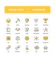 line icons set blockchain vector image vector image