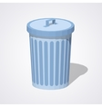 Low poly closed trash can vector image vector image