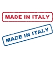 Made In Italy Rubber Stamps vector image