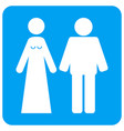 married groom and bribe rounded square icon vector image vector image