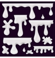 milk blots splashes and smudges vector image vector image