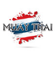 muay thai font vector image vector image