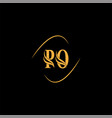p o letter logo monogram design vector image vector image