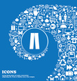 Pants icon sign Nice set of beautiful icons vector image