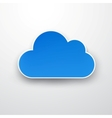 Paper blue cloud on white vector | Price: 1 Credit (USD $1)