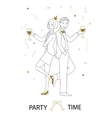 Party time line art vector image