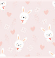 Pattern with cute hares