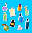 perfume bottles stickers of set vector image