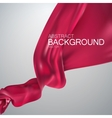 Pink silk fabric vector image