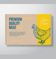 premium quality poultry meat packaging vector image