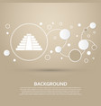 pyramid icon on a brown background with elegant vector image vector image