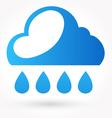 Rain and water drop icon vector image