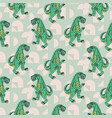 reptile monster boy seamless pattern vector image vector image