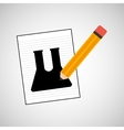 research chemical test tube lab drawing icon vector image vector image