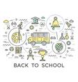 School Education Composition vector image vector image