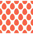 seamless pattern of light red easter eggs with vector image