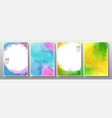 set background watercolor bright multicolor vector image vector image