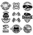 set car service station emblems and design vector image vector image